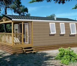 Camping Vitamin : mobil home avec terrasse Normandie